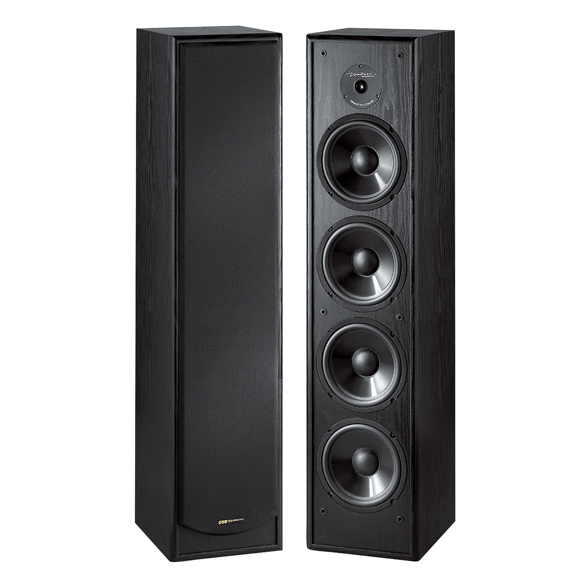 Bic Venturi Dv64 200w 2 Way Slim Design Tower Speaker Dual Active 6 1 2 Woofers Dual 6 1 2 Passive Radiators Bic America