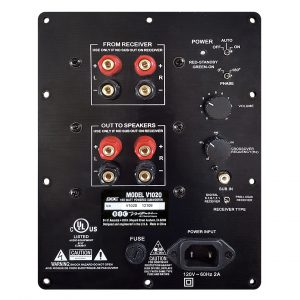 "BIC America Venturi V1020 10"" Down-Firing Powered Subwoofer rear panel"
