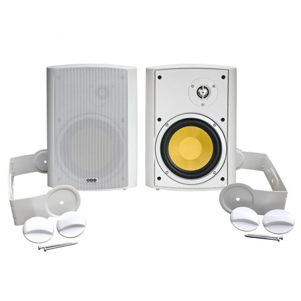 BIC Venturi VK-6IO indoor/outdoor speakers with mounting brackets