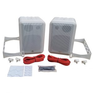 RtR V44-2 outdoor speakers in white