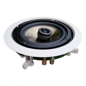 "Formula Series FH6C - 150W 2-Way 6 ½"" In-Ceiling Speakers w/ Pivoting Horn Tweeters, Metal & Cloth Décor Grills"