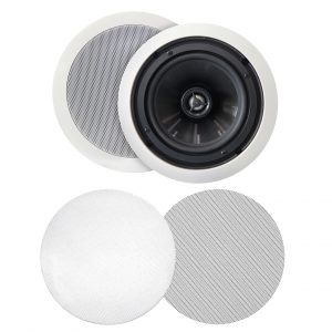 "BIC MSR-PRO6 - Weather-Resistant 125W 2-Way 6 ½"" In-Ceiling Speakers"